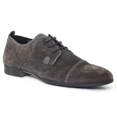 Chaussures Basses À Lacets Amoroso Andy Gris, vue principale de la chaussure homme