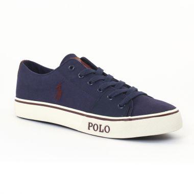 Tennis Polo Ralph Lauren a85y2003 Bleu, vue principale de la chaussure homme