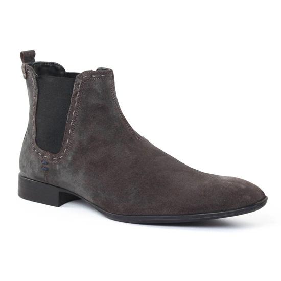 Chaussures Montantes Amoroso Charles Gris, vue principale de la chaussure homme