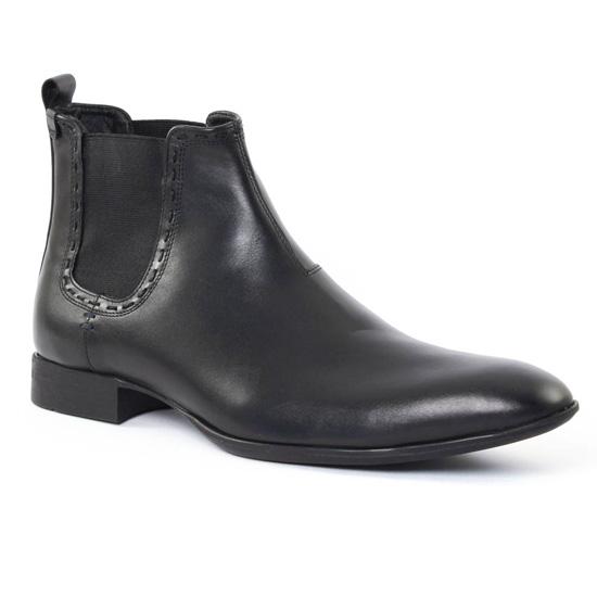 Chaussures Montantes Amoroso Charles Noir, vue principale de la chaussure homme
