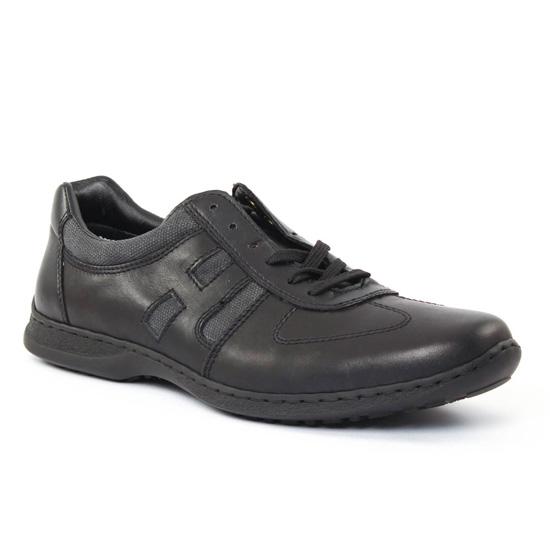 Chaussures Basses À Lacets Rieker 04713 Nero, vue principale de la chaussure homme