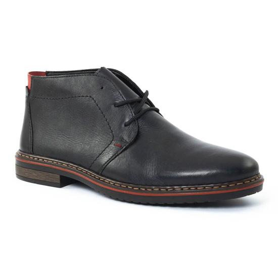 Chaussures Montantes Rieker 30423 Schwarz, vue principale de la chaussure homme