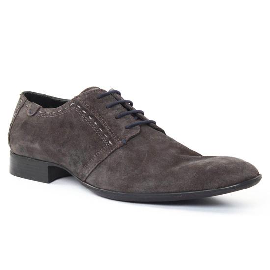 Chaussures Basses À Lacets Amoroso Richard Gris, vue principale de la chaussure homme