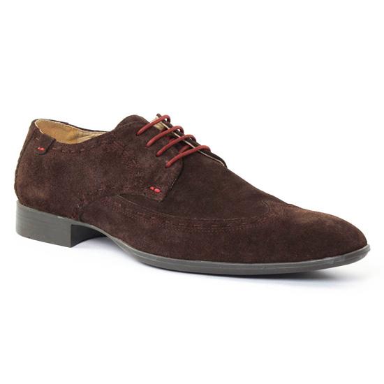 Chaussures Basses À Lacets Amoroso Nathan Marron, vue principale de la chaussure homme