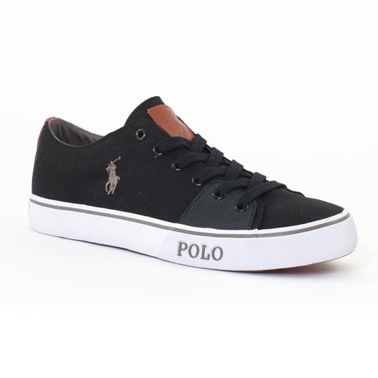 Tennis Polo Ralph Lauren a85y0276 Black Grey, vue principale de la chaussure homme
