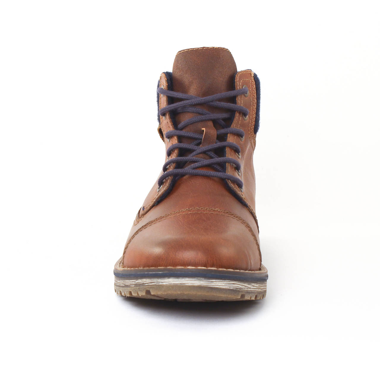 chaussures montantes marron mode homme automne hiver vue 6