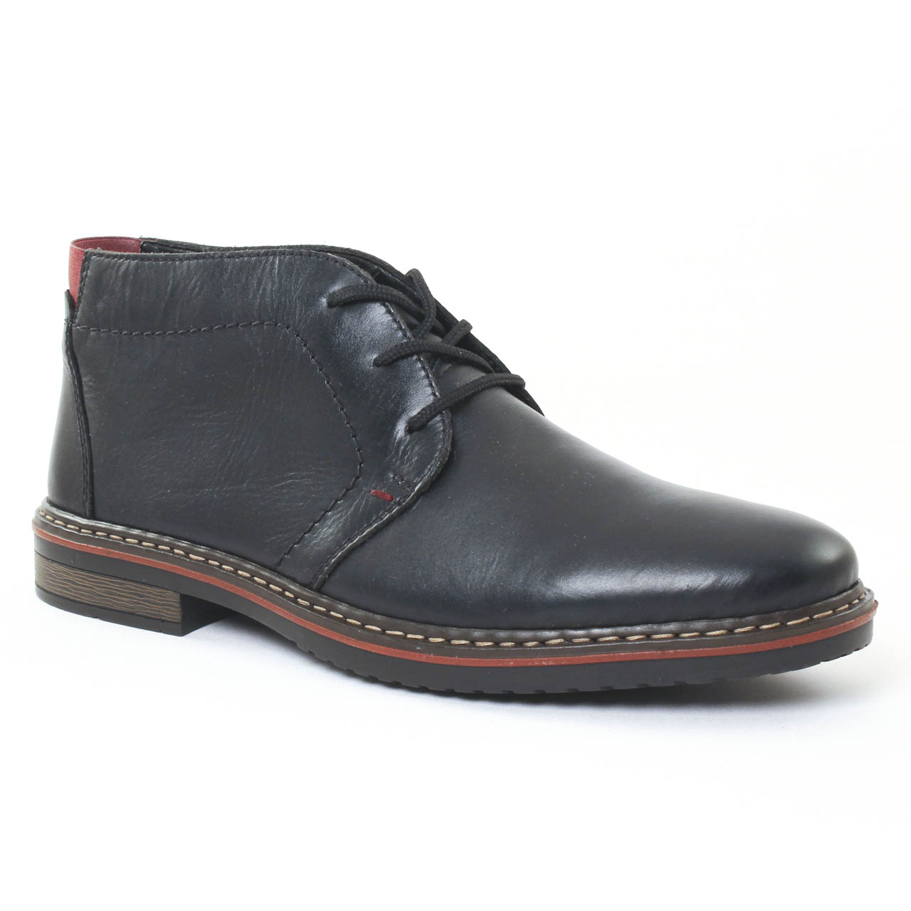 rieker 30423 noir chaussure montantes noir automne hiver chez trois par 3. Black Bedroom Furniture Sets. Home Design Ideas