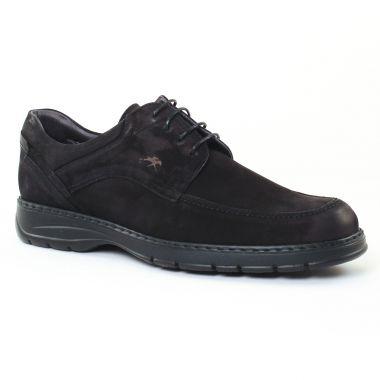 Chaussures Basses À Lacets Fluchos 9142 Noir, vue principale de la chaussure homme