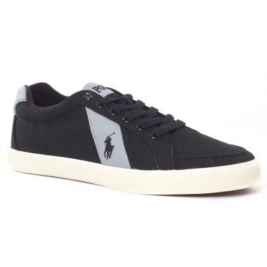 Tennis Polo Ralph Lauren Handford y0740 noir, vue principale de la chaussure homme