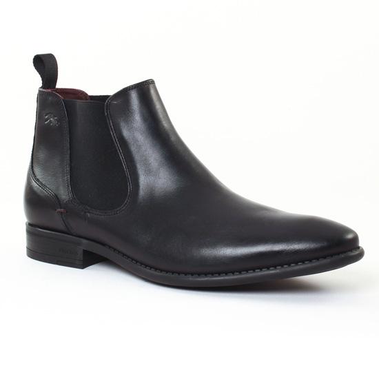 Chaussures Montantes Fluchos 9211 Noir, vue principale de la chaussure homme