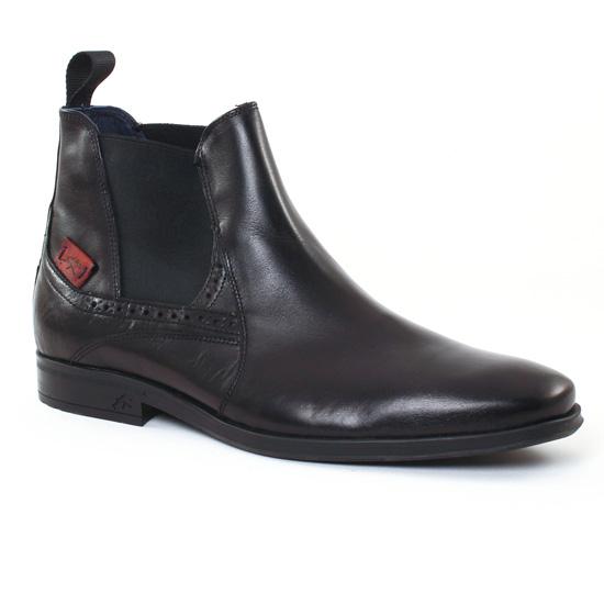 Chaussures Montantes Fluchos 9496 Noir, vue principale de la chaussure homme
