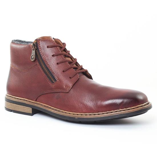 Chaussures Montantes Rieker F1233 Havane, vue principale de la chaussure homme