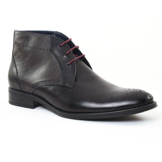 Chaussures Montantes Fluchos 8780 Noir, vue principale de la chaussure homme