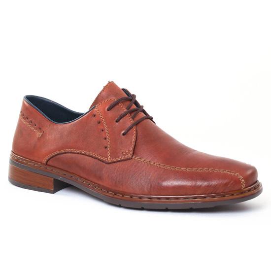 Chaussures Basses À Lacets Rieker 10802 Wisky, vue principale de la chaussure homme