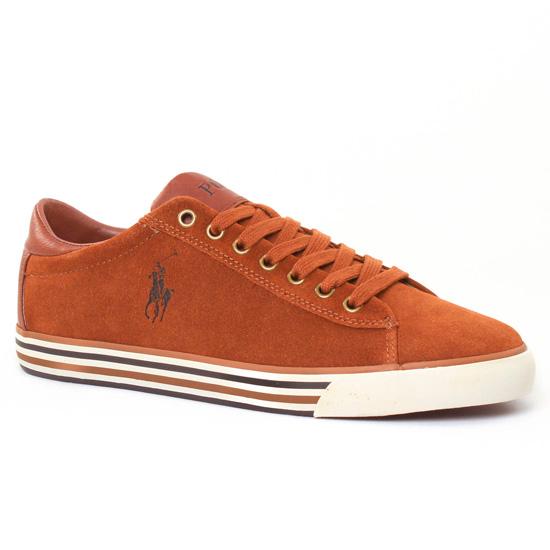 Tennis Polo Ralph Lauren Y2058 Marron, vue principale de la chaussure homme