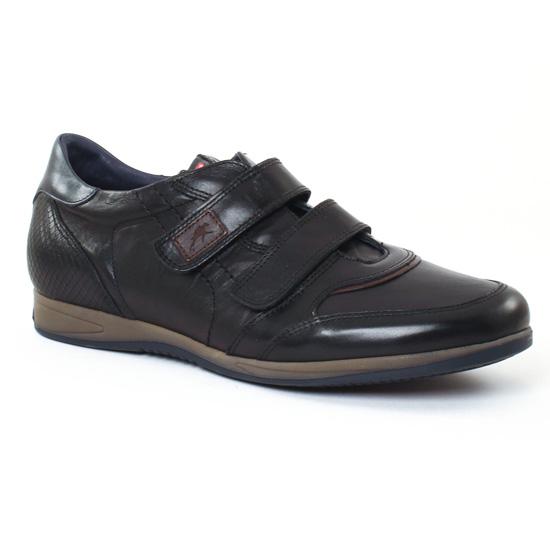 Tennis Fluchos 9262 Noir, vue principale de la chaussure homme