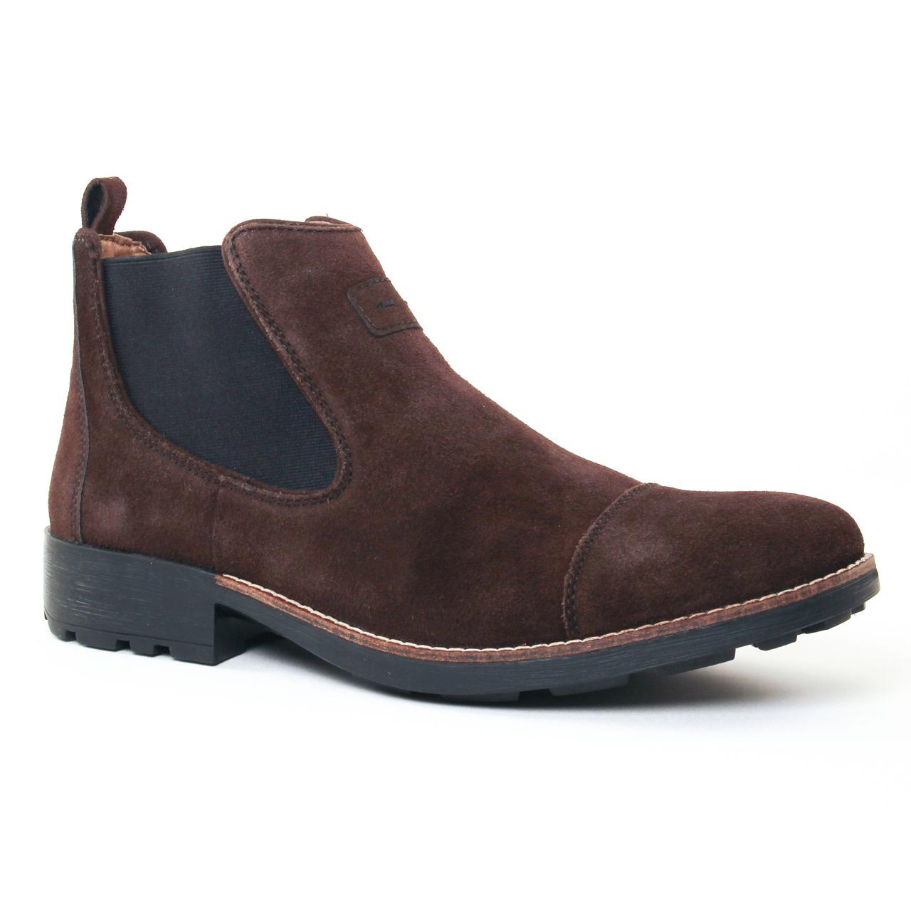 638e436d5c85 Chaussures homme hiver 2017 - boots rieker marron foncé