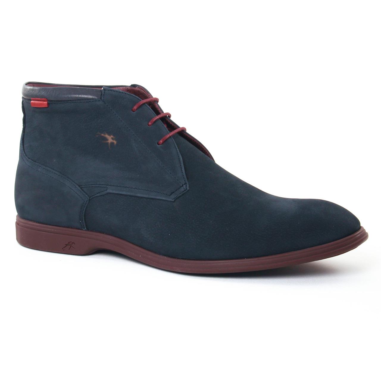 fluchos 8838 marine chaussure montantes bleu marine automne hiver chez trois par 3. Black Bedroom Furniture Sets. Home Design Ideas