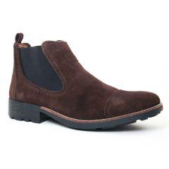 boots marron foncé: même style de chaussures en ligne pour hommes que les Rieker