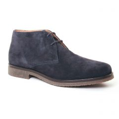Chaussures homme hiver 2017 - bottines Chukka Geox Homme bleu marine