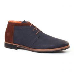 chaussures-montantes bleu marine marron: même style de chaussures en ligne pour hommes que les Geox Homme