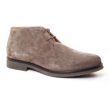 Chaussures Montantes Geox Claudio Taupe, vue principale de la chaussure homme