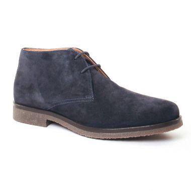 Chaussures Montantes Geox Claudio Navy, vue principale de la chaussure homme