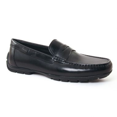 Mocassins Et Bateaux Geox U44Q6D Black, vue principale de la chaussure homme