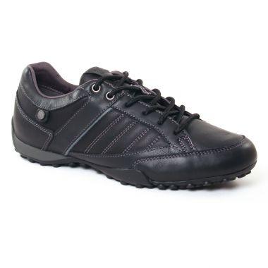 Tennis Geox Snake Black, vue principale de la chaussure homme