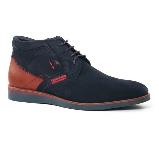 Chaussures Montantes Fluchos F0017 Marino, vue principale de la chaussure homme
