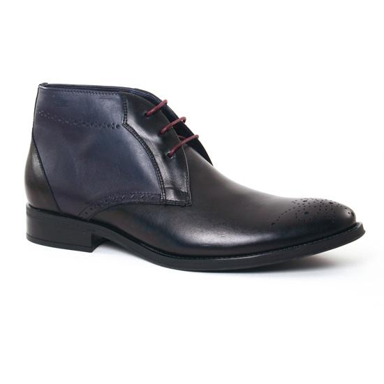 Chaussures Montantes Fluchos 8780 Noir Ocean, vue principale de la chaussure homme