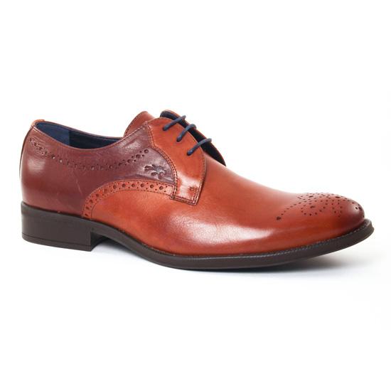 Chaussures Basses À Lacets Fluchos 8776 Castano, vue principale de la chaussure homme