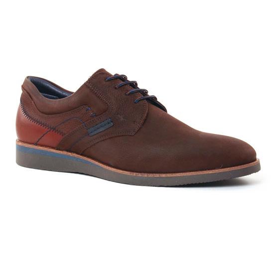 Chaussures Basses À Lacets Fluchos F0016 Cafe, vue principale de la chaussure homme