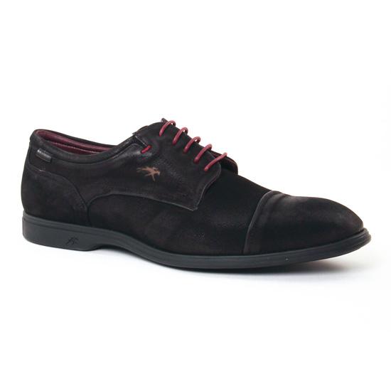 Chaussures Basses À Lacets Fluchos 8830 Noir, vue principale de la chaussure homme