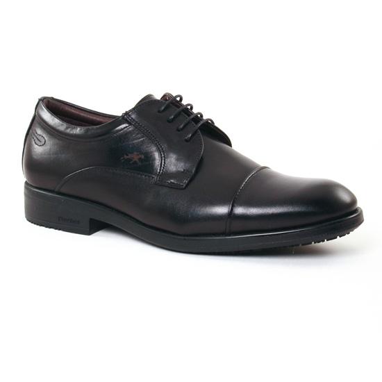 Chaussures Basses À Lacets Fluchos 9277 Noir, vue principale de la chaussure homme
