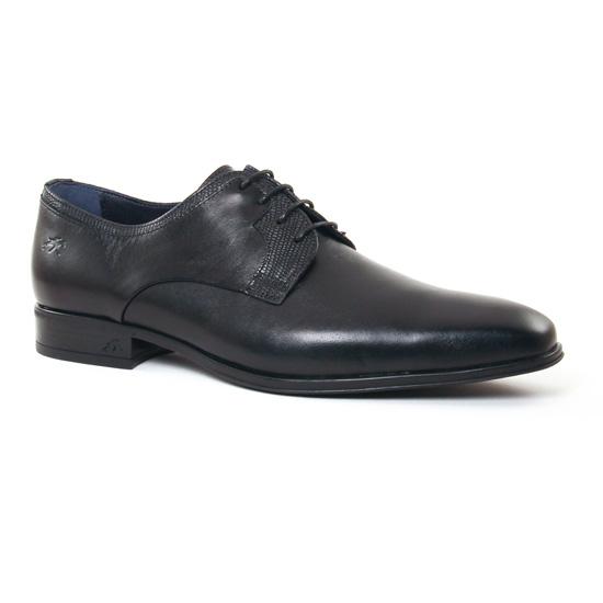 Chaussures Basses À Lacets Fluchos 9952 Noir, vue principale de la chaussure homme