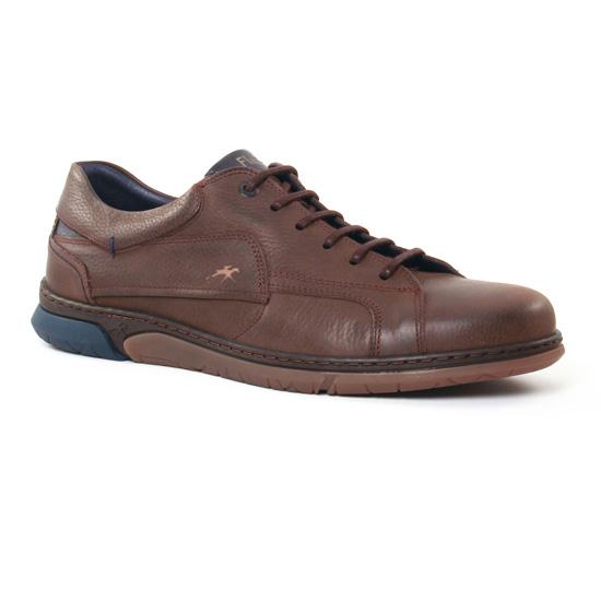 Tennis Fluchos 9907 Cafe, vue principale de la chaussure homme