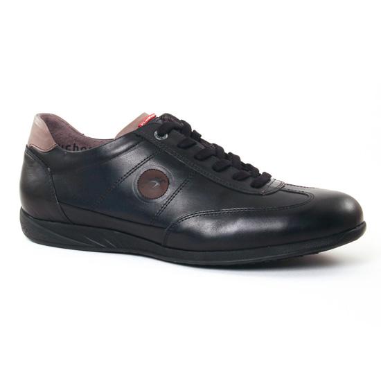 Tennis Fluchos 8789 Noir, vue principale de la chaussure homme