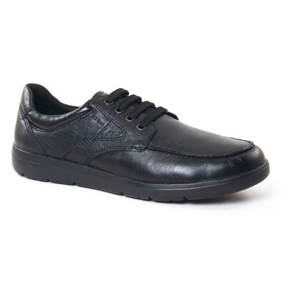 Tennis Geox U743Qb Black, vue principale de la chaussure homme