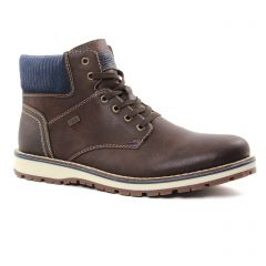 boots marron bleu: même style de chaussures en ligne pour hommes que les Rieker