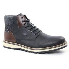 chaussures-montantes noir marron: même style de chaussures en ligne pour hommes que les Rieker