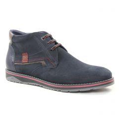 Chaussures homme hiver 2018 - bottines Chukka Fluchos bleu marine