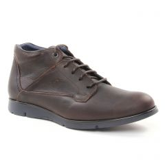 chaussures-montantes marron foncé: même style de chaussures en ligne pour hommes que les Rieker