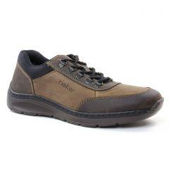 chaussures-basses-a-lacets marron noir: même style de chaussures en ligne pour hommes que les Rieker