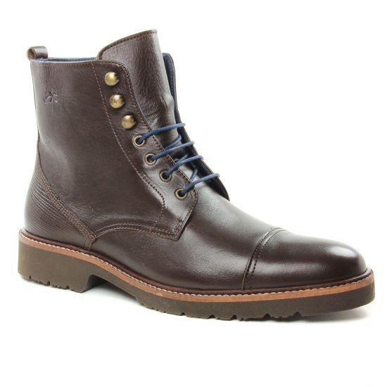 Chaussures Montantes Fluchos 9947 Cafe, vue principale de la chaussure homme