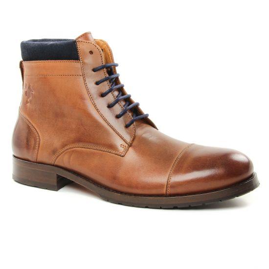 Chaussures Montantes Kost Dranse45 Cognac, vue principale de la chaussure homme