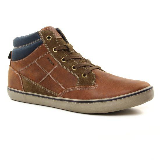 Chaussures Montantes Geox U74R3C Brown Cotto, vue principale de la chaussure homme