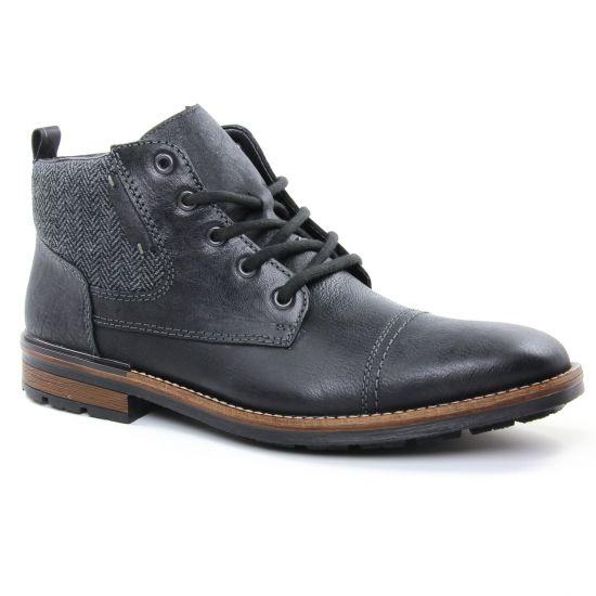 Chaussures Montantes Rieker F1314 Noir, vue principale de la chaussure homme