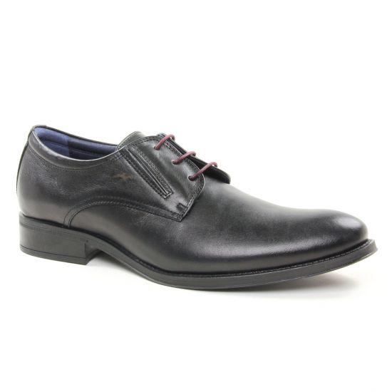 Chaussures Basses À Lacets Fluchos 8410 Negro, vue principale de la chaussure homme
