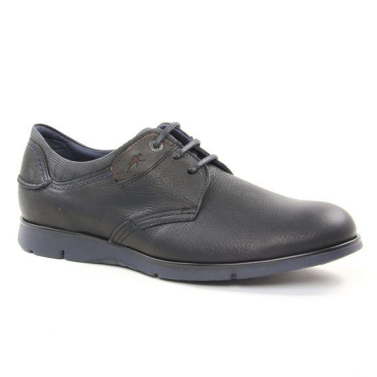 Chaussures Basses À Lacets Fluchos 9927 Negro, vue principale de la chaussure homme